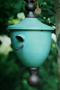 RARE Tom Torrens sculpture Copper Tone Iron Hand Crafted Acorn Birdhouse New