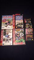 Sega Genesis Games Lot (8 total) Tecmo SuperBowl, Jurassic Park, Monopoly + More