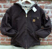 Carhartt J141 Sherpa Lined Sandstone Sierra Jacket - Dark Brown - L