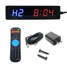 Programmable Crossfit LED Interval Timer Wall Clock w/Remote For Tabata Fitness