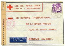 NED INDIE DUTCH INDIES 1941-2-13  RED CROSS-CENSOR PM-SOERABAJA- TO SWITZERLAND