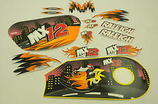 """12"""" RALEIGH MX12 DECAL TRANSFER SET,STICKER PACK SUIT OTHER BIKES WTFRX12"""