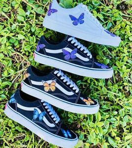 Vans Off the Wall Old Skool Butterfly Cute Sneaker Shoes Womens - All Colors