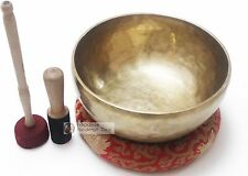 "11"" Master healing singing bowl plain set - meditation bowl free pillow by NHZ"