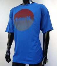 New Hurley Surfing Classic Nuned Blue T-Shirt Mens Size 2Xlarge HRL-159