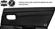 BLACK STITCH 2X REAR DOOR CARD TRIM LEATHER COVERS FITS MAZDA 3 03-2009 5 DOOR