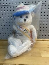 Vintage Chantilly Lane Singing Happy Birthday Teddy Bear PBC Sealed Brand New!