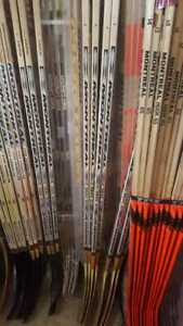 Cheap Ice Roller Inline Street Hockey Wood Sticks Bundles 12, 6 or Single Stick