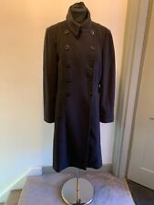 Kew Wool Cashmere Blend Navy Double Breasted Winter Coat Size 14 Read Descriptio