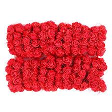 144x Mini flores artificiales falsas rosas espuma Ramos boda decoración partido