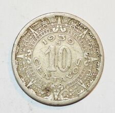 1939 M 10 CENTAVOS coin MEXICO vintage foreign world RARE KEY DATE