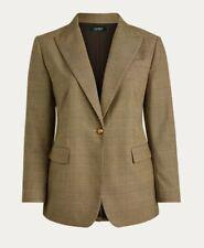 Lauren Ralph Lauren Women's Tan Glen Plaid Classic Blazer Jacket - Sz 16W NEW