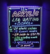 LED FRAMELESS WRITING BOARD 12' X 16' WIRELESS LIGHT REMOTE REWRITABLE DIY SIGN