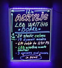 LED FRAMELESS WRITING BOARD 12' X 16' WIRELESS LIGHT REMOTE REWRITABLE DIY SIGN