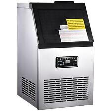 More details for commercial ice maker stainless steel machine 80kg/24hr free ice crusher & scoop