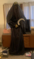 Grim Reaper FITCO 2000 Halloween 6.5' Life Sized  Read Desc Straight From Grave
