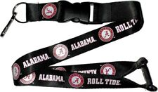 Alabama Crimson Tide Football Team ROLL Logo NCAA Black Safety Lanyard Keychain