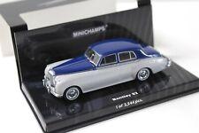 1:43 Minichamps Bentley S2 Saloon silver/ blue NEW bei PREMIUM-MODELCARS
