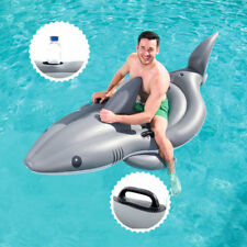 Bestway 2.54m x 1.22m Shark Rider Funday Jumbo Float With Cup Holder Inflatable