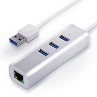 CSL USB 3.0 Super Speed 3-Port Hub + Gigabit Ethernet LAN Netzwerkadapter (RJ45)