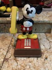 """DISNEY AT&T """" MICKEY MOUSE """" TOUCH TONE PHONE ( vintage 1976 )  15"""" TALL"""
