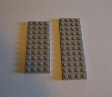 lot of 2 light grey Lego plates - 4 X 10, 4 X 12