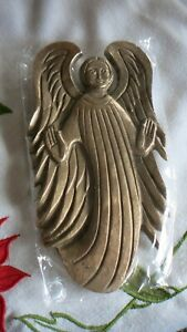Wandbild : Engel , Gusseisen in Bronze , original verpackt Gr.: ca. 20 cm