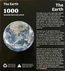 1000 piece jigsaw puzzle The Earth 67.3 cm