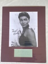 Pearl Bailey Signed Card w/ 8x10 B/W Photo - Matted