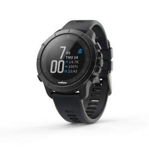 New Stealth Grey Wahoo ELEMNT Rival MULTISPORT GPS WATCH 24/7 Data Tracking