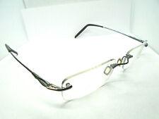 Nike with Flexon 4096 013 Silver 51-20-150 Rimless Eyeglass Glasses Frames