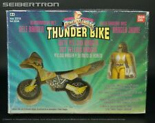 Power Rangers THUNDER BIKE Yellow Ranger Bandai 1993 complete stickers unused