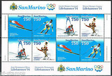 San Marino blok 18 Olympische Spelen 1994 Lillehammer MNH cat waarde € 8