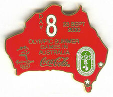 2000 SYDNEY OLYMPIC COCA COLA PIN OF THE DAY GOLD PIN SET DAY 8