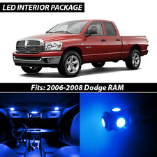 2006-2008 Dodge RAM 1500 2500 3500 Blue Interior LED Lights Package Kit
