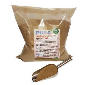 FoodPURA 3KG Brewers Yeast Powder Pony, Horse, Equine Fishing Bait, Human Health