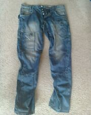Mens 883 POLICE Desmo Blue twisted leg jeans 34'' waist regular leg