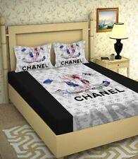 King Size Bed Sheet Set Ultra Glace Cotton Luxury Bedding Logo 3 Pcs Bedspread