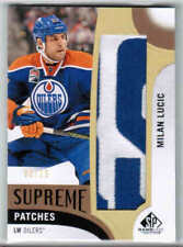 17/18 SP GAME USED MILAN LUCIC PA-ML SUPREME PATCHES PATCH /15 EDMONTON OILERS