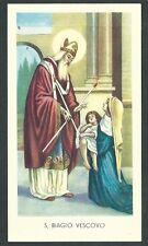 Estampa de San Biaggio andachtsbild santino holy card santini