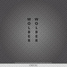 0802 Wolber Bicycle Fork Stickers - Decals - Transfers - Clear With Black Text