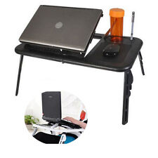 Portable Folding Laptop Desk Stand  Adjustable Computer Table Stand Tray For Bed