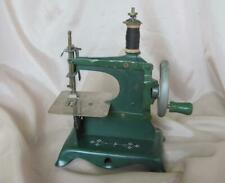 ANTIQUE GERMAN CHILD METAL TOY FUNCTIONAL SEWING MACHINE