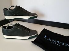 Lanvin Mens Sneakers, Trainers, Shoes, Uk 5 Eu39, Green & Grey, Leather, Vgc