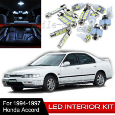 10pcs Interior LED Light Bulbs Package Kit for 1994-1997 Honda Accord 4dr White