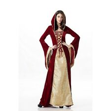 Tudors Medieval Game Of Thrones Gown Renaissance Dress Red Gold Corset Costume M