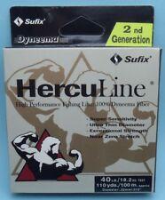 Sufix Herculine Dyneema Braided Fishing Line 40lb 18.2kg 110yds 100m Gray