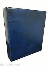 BLUE BRITANNIA STAMP ALBUM/ BINDER - 4 'D' RING - SPINE POCKET - STANLEY GIBBONS