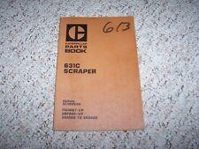 Caterpillar Cat 631C Scraper Parts Catalog Manual 11G3267- 28F965- 5A6509-