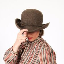 Vintage brown & white ORVIS bowler hat - unisex ORVIS 100% wool felt fedora